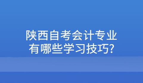陕西自考会计专业有哪些学习技巧?